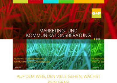 Letztes Projekt: G&P, Grafik und Produktion Bonn